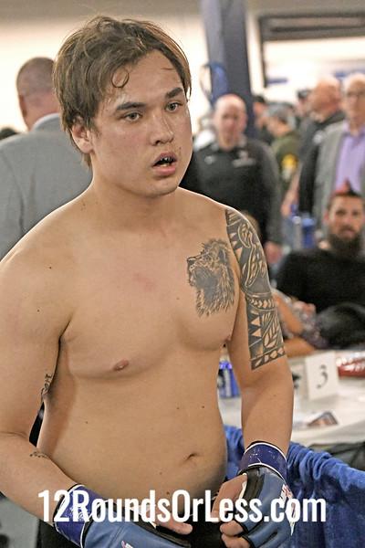 Fifth Pro Bout=Bout 12 Branko Busick, Black + Silver Trunks -vs- Randy Tran, Black Trunks, Heavyweight, Pro MMA