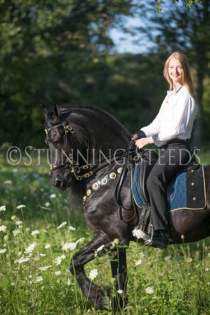 Wilrick under saddle