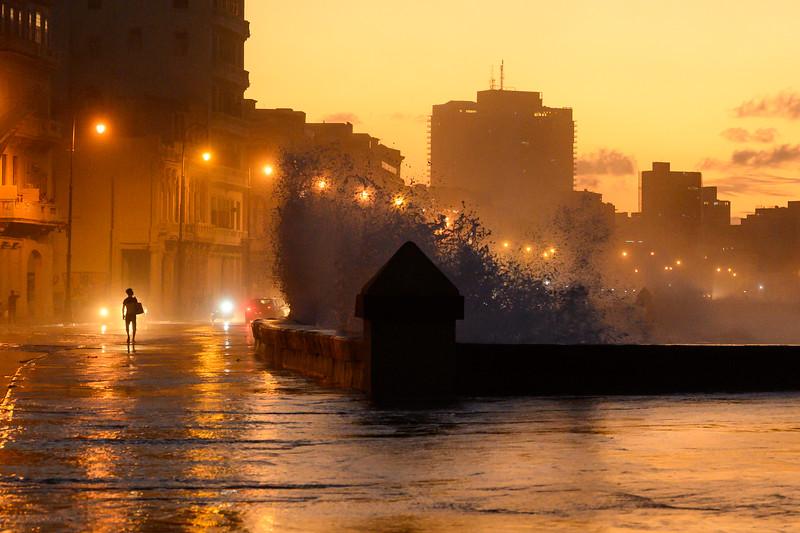 Sunset on the Malecon, Cuba