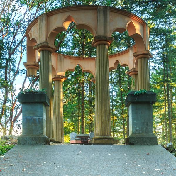 Morning at the McMillin Mausoleum