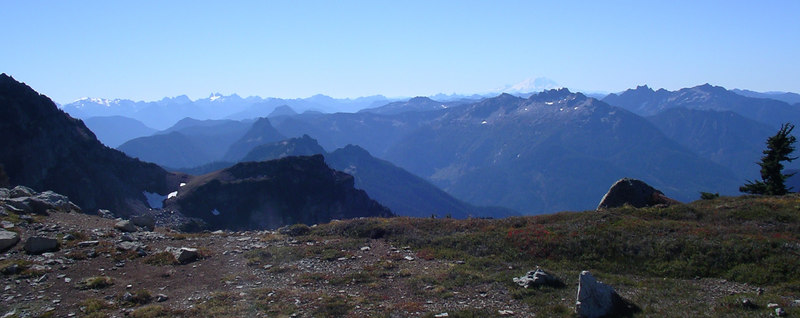 Mt. Rainier and peaks to the south.