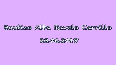 Bautizo Alba Ravelo Carrillo