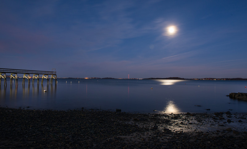 Quincy Pier in Super Full Moon