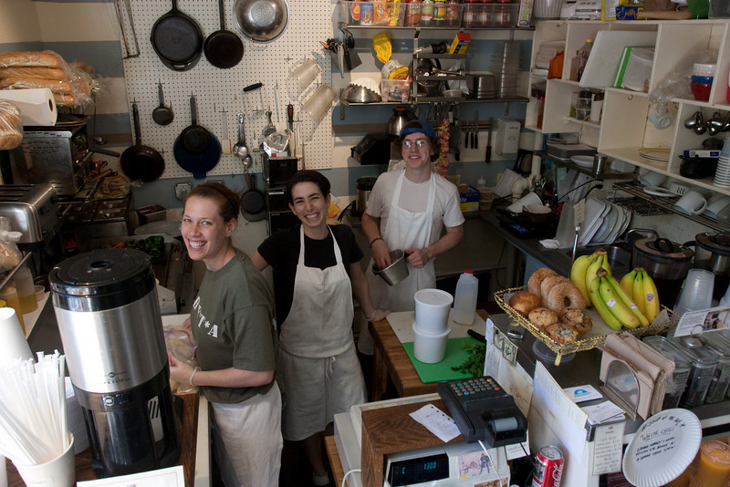 Day 7 - The crew at Mike & Patty's sandwich shop in Bay Village, Boston