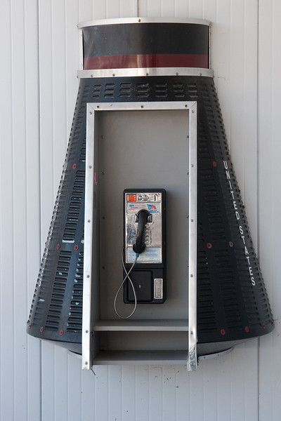 a payphone  -- Kennedy Space Center Visitor Center