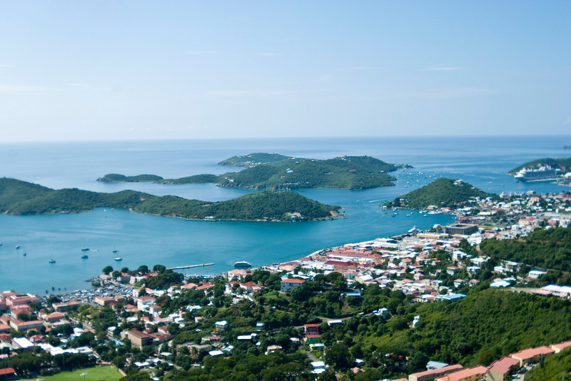 St Thomas and surrounding islands