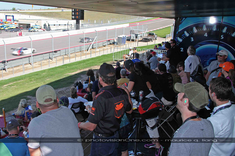 SRT owners watch the Vipers race by.