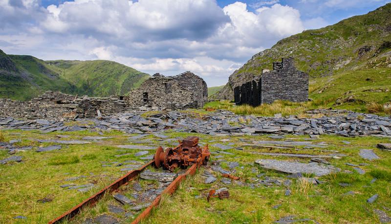 Derelict mine buildings in Snowdonia