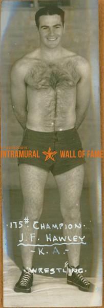 WRESTLING 175lbs Champion  K. A.  J. F. Hawley