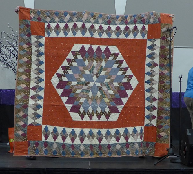 """Part of the special show and tell following Beth Donaldson's Program on """"Michigan Quilters and Quilt Collections""""."""