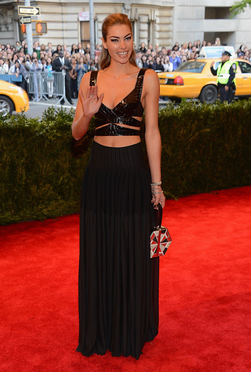 """. Model Jessica Hart attends the Costume Institute Gala for the \""""PUNK: Chaos to Couture\"""" exhibition at the Metropolitan Museum of Art on May 6, 2013 in New York City.  (Photo by Larry Busacca/Getty Images)"""