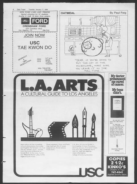 Daily Trojan, Vol. 95, No. 6, January 17, 1984