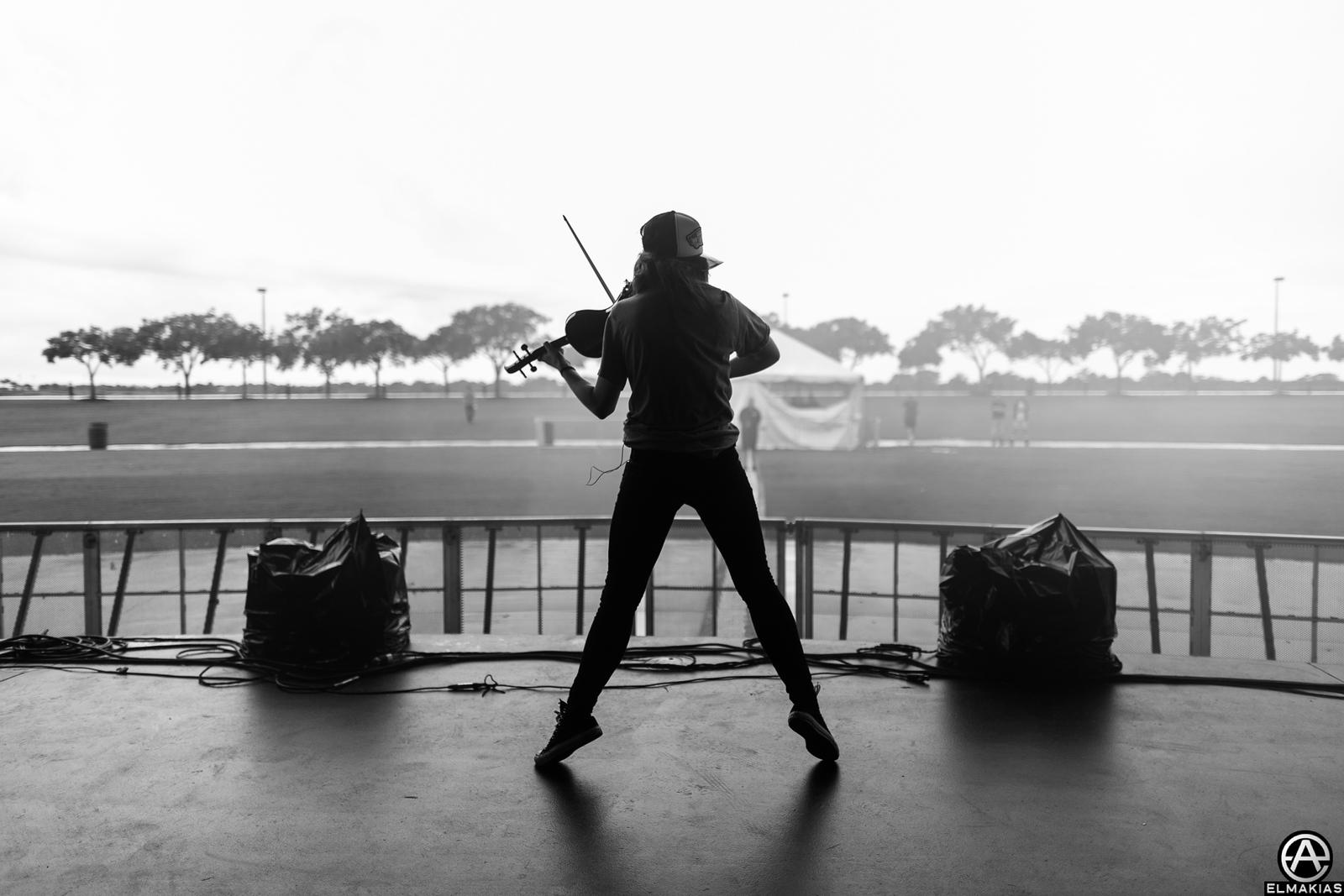 Soundcheck on the Shatter Me Tour by Adam Elmakias