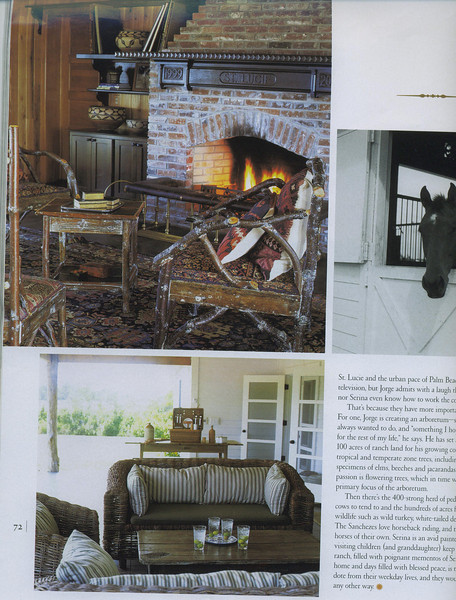 Palm Beach Homes and Gardens on the home of Jorge Sachez full of our funishings