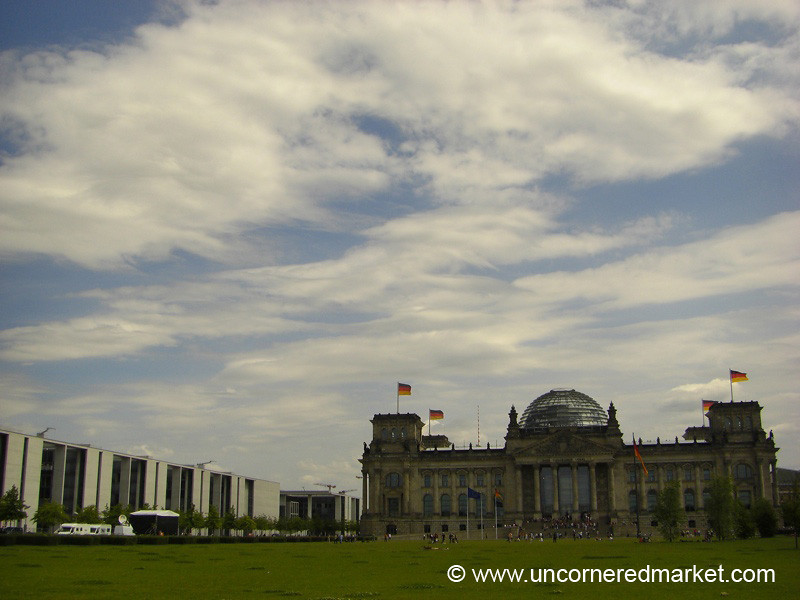 Flags Over the Bundestag - Berlin, Germany