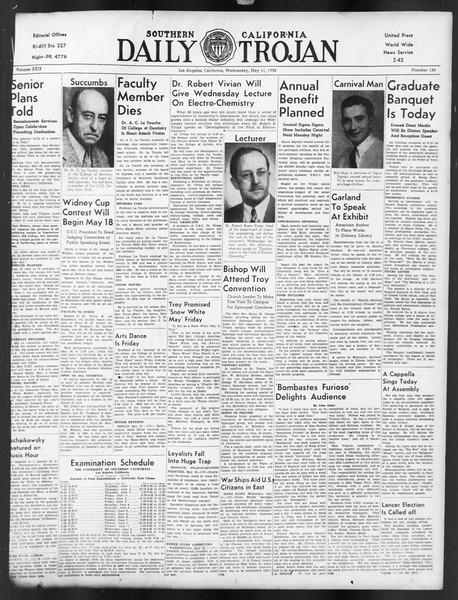 Daily Trojan, Vol. 29, No. 134, May 11, 1938