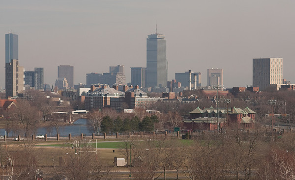 Boston views, from Mt Auburn Hospital