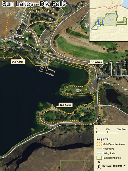 Sun Lakes-Dry Falls State Park (Metal Detection Areas)