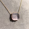 'INV My Letter' Pale Pink Glass Rebus Pendant, by Seal & Scribe 12