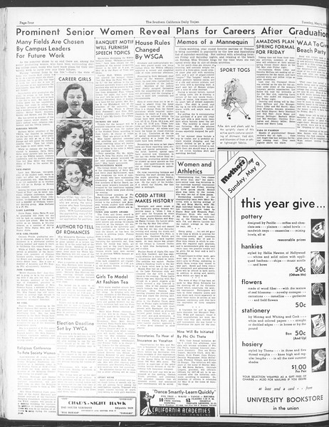 Daily Trojan, Vol. 28, No. 129, May 04, 1937