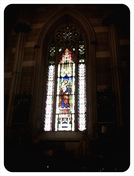 Stained Glass in the Old Saint Patrick's Cathedral
