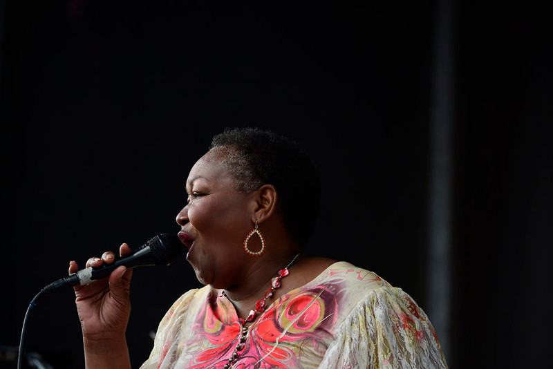 . Hazel Miller of the Hazel Miller Band performs at the Five Points Jazz Festival, May 18, 2013. The festival ran 11am to 8pm on May 18, 2013 and is a free community event highlighting local musicians, art and the historic Denver Five Points neighborhood.  (Photo By Mahala Gaylord/The Denver Post)