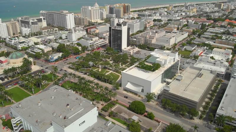 Aerial Miami Beach Florida USA Lincoln Road Soundscape Park