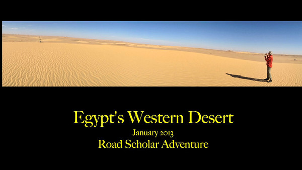Egypt's Western Desert Video