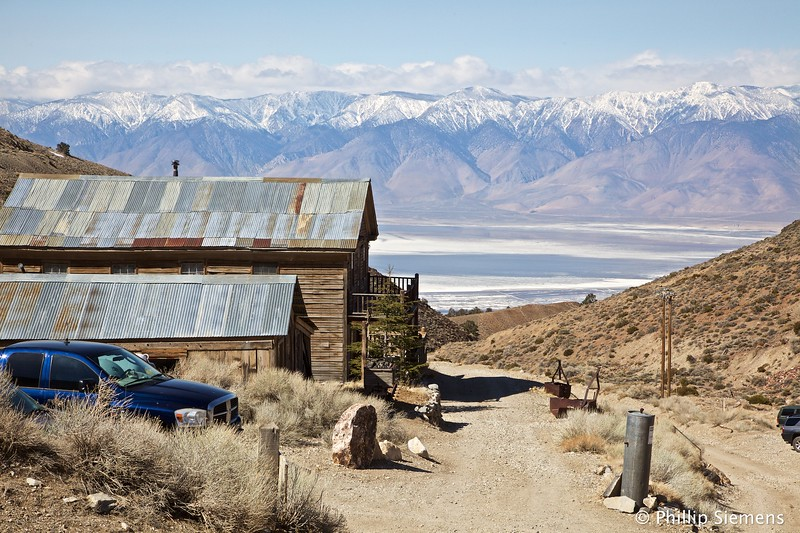 Owens Lake and the Sierra Crest from Cerro Gordo
