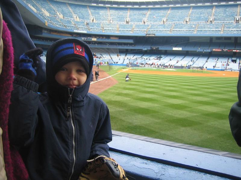 Jack at Yankee Game 01