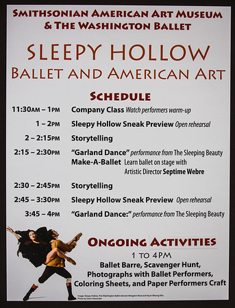 "SAAM Washington Ballet ""Sleepy Hollow"" Preview"