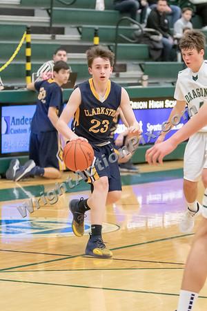 2019 01 25 Clarkston JV Basketball vs Lake Orion