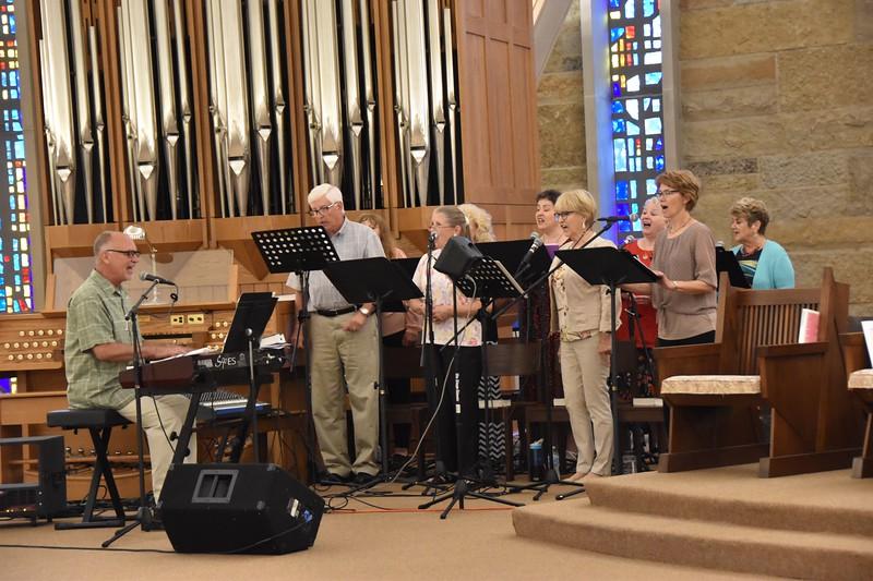 The Lumen Christi choir joined us