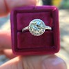 1.19ctw Old European Cut Diamond Halo Ring by A Jaffe 21