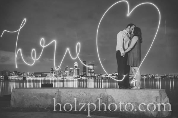 Kara & Luke B/W Engagement Photos