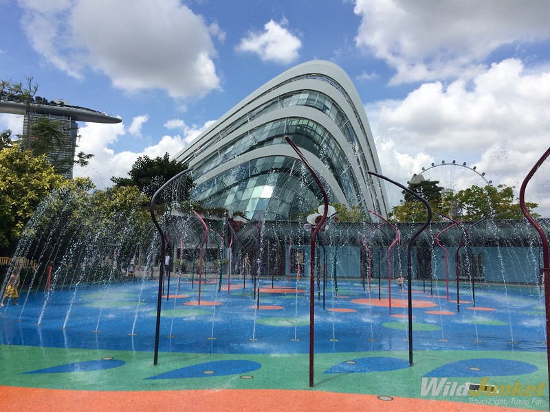 gardens by the bay water play area - traveling singapore with kids
