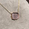 'INV My Letter' Pale Pink Glass Rebus Pendant, by Seal & Scribe 15
