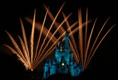DisneyWorld Wishes Fireworks 2008