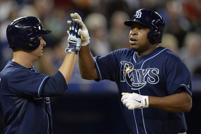 """. <p>4. DELMON YOUNG <p>From sullen stiff to sultan of swat. Every October. (unranked) <p><b><a href=\'http://mlb.mlb.com/news/article.jsp?ymd=20131002&content_id=62351694&c_id=mlb\' target=\""""_blank\""""> HUH?</a></b> <p>    (AP Photo/The Canadian Press, Frank Gunn)"""
