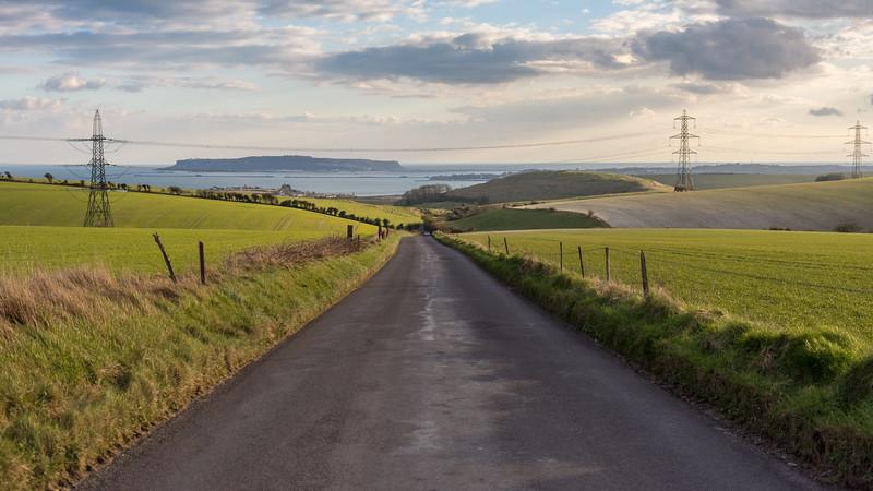 Dorset lane above Weymouth Bay