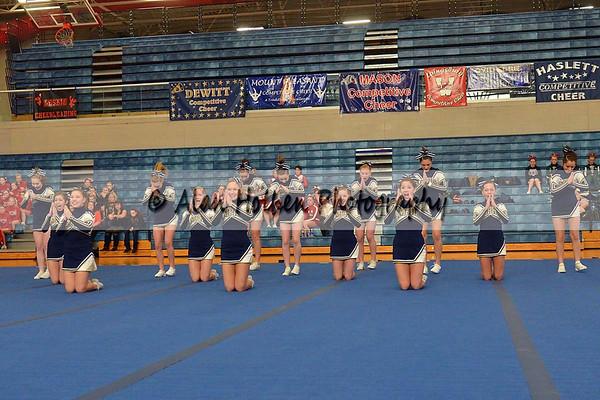 Cheer at Mason Feb 4 - Mt. Pleasant varsity - Round 1