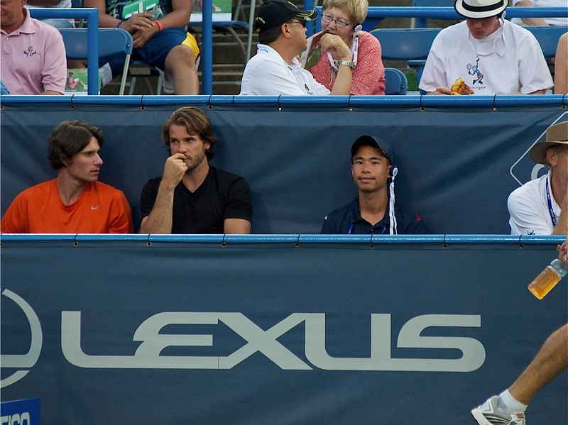 Tommy Haas 2012 - Citi Open scouting and spectator
