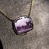 'Push Along' Purple Glass Pendant, by Seal & Scribe 13