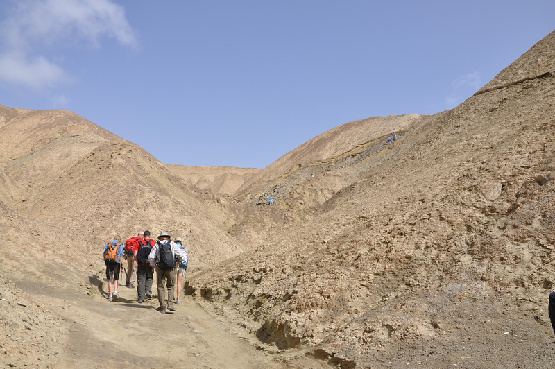 The crew hiking up to Quarry #3.