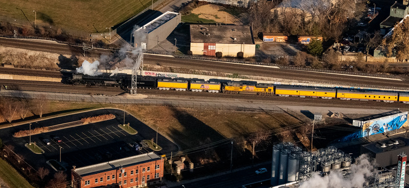 November: Union Pacific 4014 from the Air