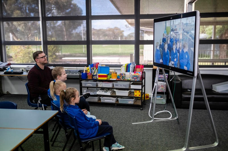 Ultima primary school is situated in the Malle in north western Victoria, the school has just three students all related to each other.