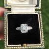 2.03ct Emerald Cut Diamond Ring, GIA K IF 7
