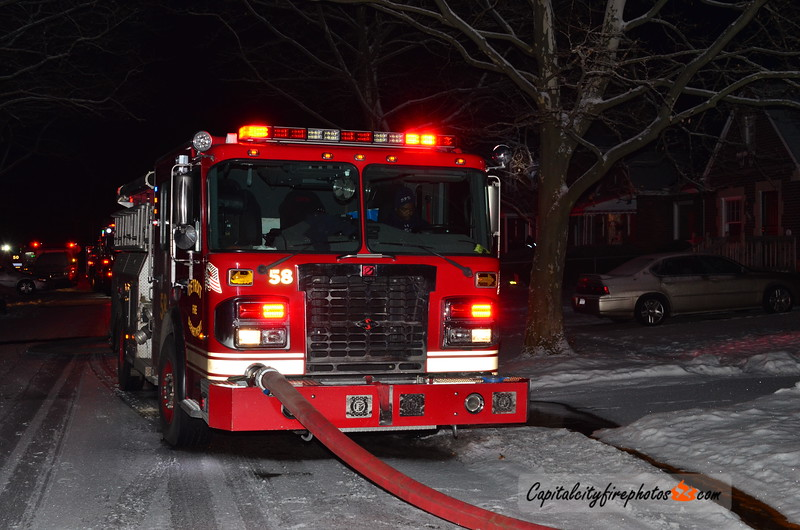 2/18/18 - 10335 Britain St - 2354 hours – Engines 58, 52, 50, Ladder 23, Squad 6, Chief 9. Engine 58 stretched. Chief 9 had fire in a single family, 2 story dwelling on the second floor holding all companies.