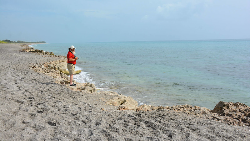 John standing atop Blowing Rocks