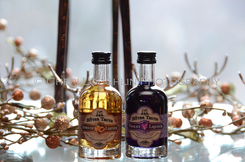 Bitter Truth Apricot & Violet Liqueurs - Cheri Loughlin Wine & Spirits Stock Photography